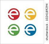 e logo solid circle | Shutterstock .eps vector #1024189294