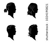 hamdsome men hairstyles vector... | Shutterstock .eps vector #1024190821