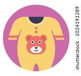 yellow color baby romper ...   Shutterstock .eps vector #1024191289