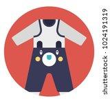 baby romper  long sleeves...   Shutterstock .eps vector #1024191319