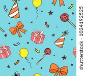 seamless pattern for party.... | Shutterstock .eps vector #1024192525