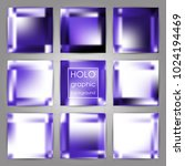 set of trendy holographic... | Shutterstock .eps vector #1024194469