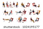 collection of men and women or... | Shutterstock .eps vector #1024195177