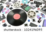 new and old storage medium on... | Shutterstock . vector #1024196095