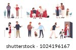 collection of spouses or... | Shutterstock .eps vector #1024196167