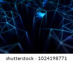 abstract network concept. 3d... | Shutterstock . vector #1024198771