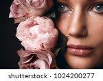 beautiful romantic young woman... | Shutterstock . vector #1024200277