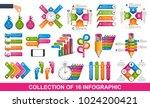 big collection of sixteen... | Shutterstock .eps vector #1024200421
