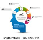 infographics in the shape of a... | Shutterstock .eps vector #1024200445