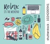 hand drawn illustration relax... | Shutterstock .eps vector #1024200541