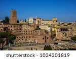 view of trajan market  mercati... | Shutterstock . vector #1024201819