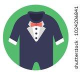 baby romper  long sleeves...   Shutterstock .eps vector #1024206841