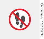 prohibiting vector sign.... | Shutterstock .eps vector #1024210714