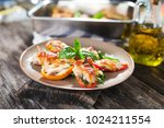 stuffed peppers with  sardines... | Shutterstock . vector #1024211554