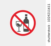 prohibiting vector sign.... | Shutterstock .eps vector #1024211611