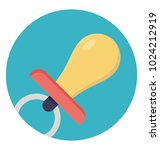 flat icon design of pacifier | Shutterstock .eps vector #1024212919