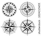 wind rose retro design vector... | Shutterstock .eps vector #1024215655