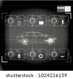 futuristic user interface. hud... | Shutterstock .eps vector #1024216159