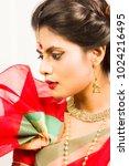 beautiful indian female model... | Shutterstock . vector #1024216495