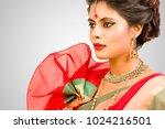 beautiful indian female model... | Shutterstock . vector #1024216501