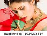 beautiful indian female model... | Shutterstock . vector #1024216519