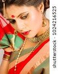 beautiful indian female model... | Shutterstock . vector #1024216525