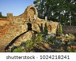 garden of church of jude... | Shutterstock . vector #1024218241