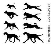 Stock vector black icon dogs 1024219114