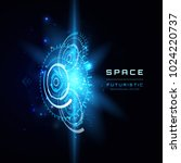 space futuristic abstract... | Shutterstock .eps vector #1024220737