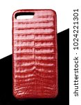 Red Crocodile Leather Case For...