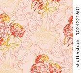 floral seamless pattern. wild...   Shutterstock . vector #1024221601
