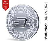 dash. crypto currency. 3d... | Shutterstock .eps vector #1024223569