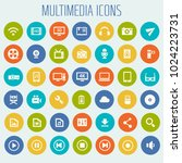 big multimedia icon set | Shutterstock .eps vector #1024223731