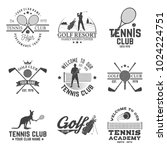 set of golf club  tennis club... | Shutterstock .eps vector #1024224751