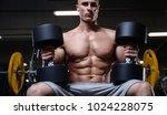 bald brutal sexy strong... | Shutterstock . vector #1024228075