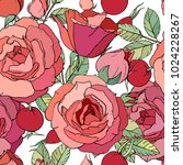 seamless floral pattern with... | Shutterstock .eps vector #1024228267