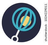flat icon design of a rattle | Shutterstock .eps vector #1024229011