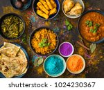 traditional indian food  holi... | Shutterstock . vector #1024230367