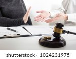 hands of wife  husband signing... | Shutterstock . vector #1024231975