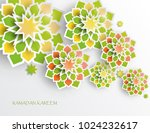 greeting card with intricate... | Shutterstock .eps vector #1024232617