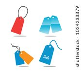 collection of price tag... | Shutterstock .eps vector #1024233379