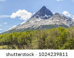 snow mountains in laguna... | Shutterstock . vector #1024239811