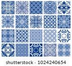 vector tiles patterns. seamless ... | Shutterstock .eps vector #1024240654