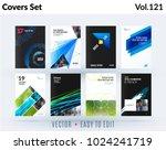 set of design of brochure ... | Shutterstock .eps vector #1024241719