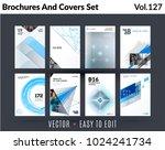set of design of brochure ... | Shutterstock .eps vector #1024241734