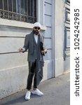 milan   january 13  man in... | Shutterstock . vector #1024242985