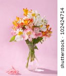 Bouquet Of Alstroemeria In A...