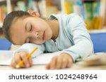 close up of an adorable little... | Shutterstock . vector #1024248964