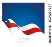chile abstract wave flag ribbon ... | Shutterstock .eps vector #1024250137