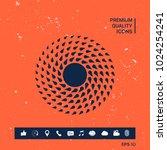 sun symbol icon | Shutterstock .eps vector #1024254241